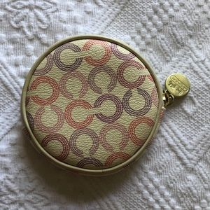 MULTICOLOR LOGO COACH COIN PURSE CIRCLE